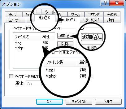 cgi と phpの追加