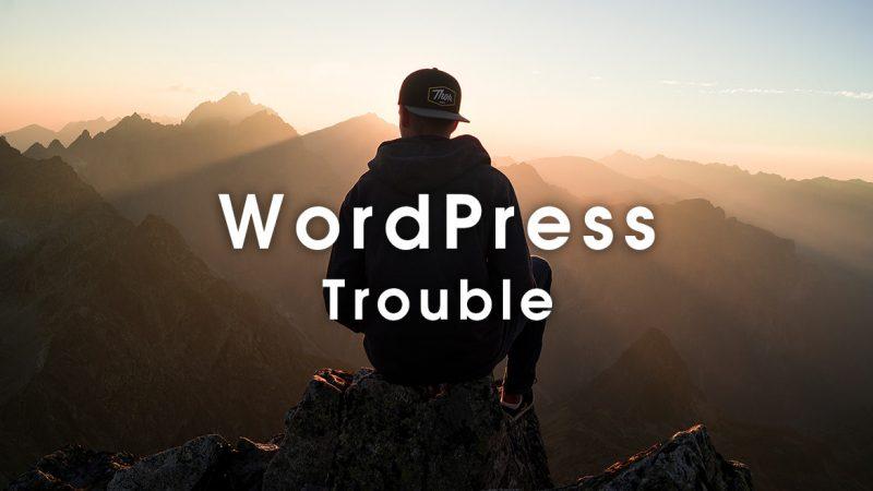 WordPress トラブル になった時の対処法 これで解決!