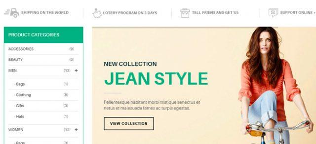 洋服や古着サイトなどに利用できるオーソドックスなテーマ / adot