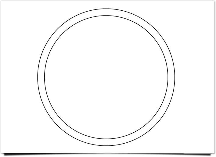 レトロ ロゴ サークルの描画
