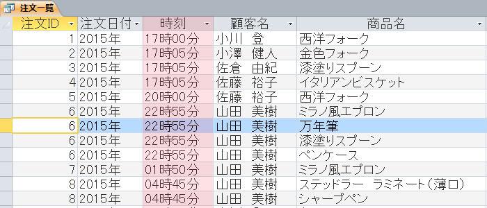 Format関数 日付 実行例
