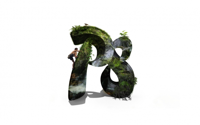 Photoshop 3D テキスト 完成図 / Results