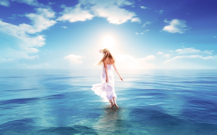 Photoshop CC / Fantastic Sea 【海と少女】
