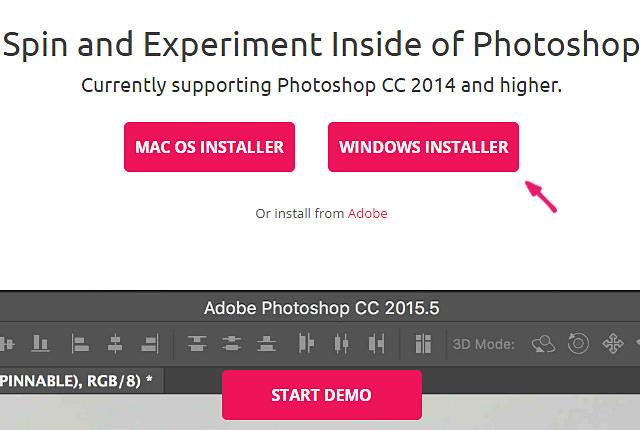 Photoshop プラグインの導入 Windows Installer