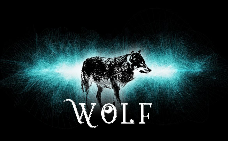 Wolf Outline Effect5 / 狼 - ヒスイ(ブルー)