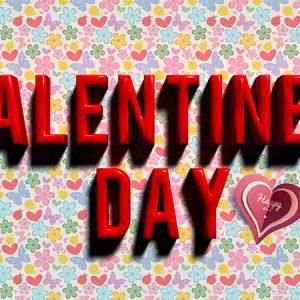 Valentine 3D Text Type1 / バレンタイン3D(完成品)