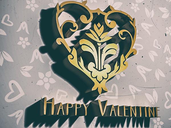 PhotoshopCC-Product-3D-Text-&-Logo-Happy-Valentine2-Type3-Thumbnails