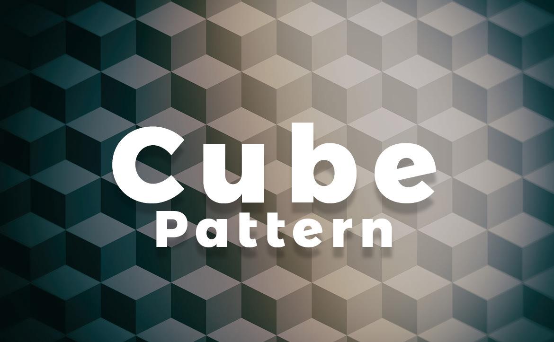Cube Pattern Effect6 Blur / キューブ パターン エフェクト6(周辺ぼかし)