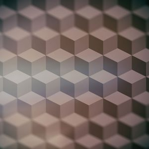 Cube Pattern Effect5 Blur / キューブ パターン エフェクト5(周辺ぼかし)