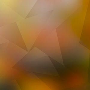 Low Polygon Deep Orange / ローポリゴン(ディープオレンジ)