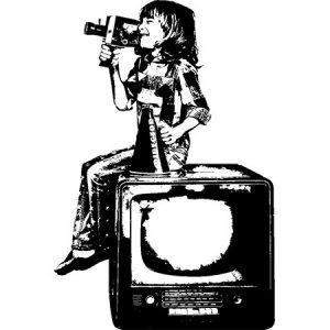 Movie Kids Black / 映画を撮る少年(黒色)