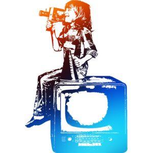 Movie Kids Red & Blue / 映画を撮る少年(赤青色)