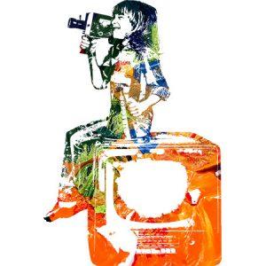 Movie Kids Painting2 / 映画を撮る少年(ペイント2)