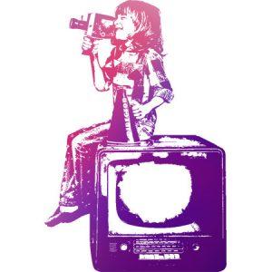 Movie Kids Red&Porple / 映画を撮る少年(赤紫色)