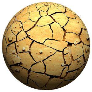 Sand Crack Planet / 惑星(砂 クラック)