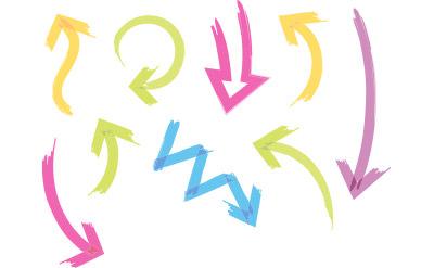 マーカーで書いたようなシンプルな矢印(13)
