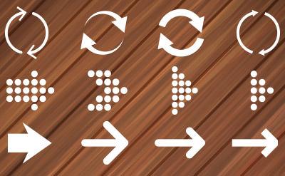 丸みのあるデザインとシャドウ印象的な矢印(25)