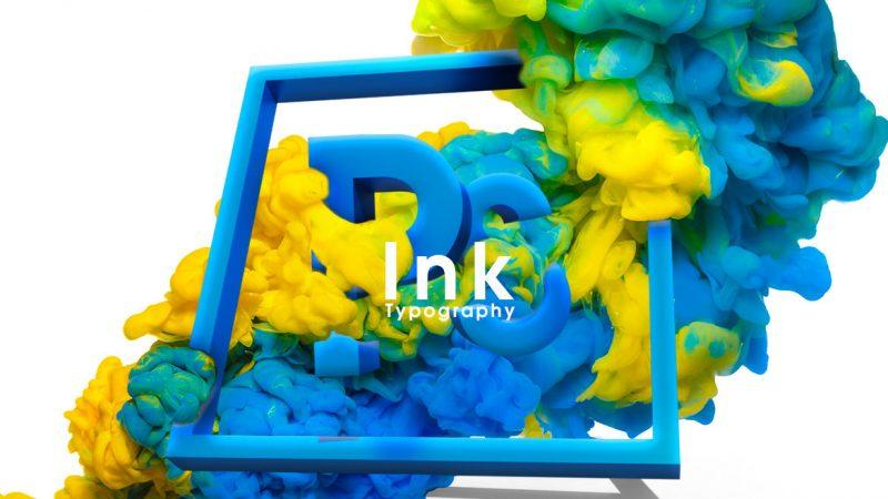 Photoshop インク タイポグラフィ 簡単チュートリアル!
