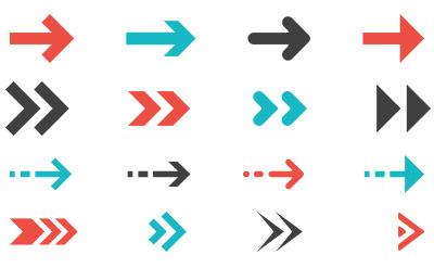 3種類のカラーのスタンダードな矢印(16)