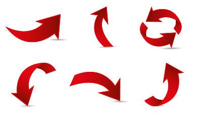 ぐるっと回り込むような赤い矢印(8)