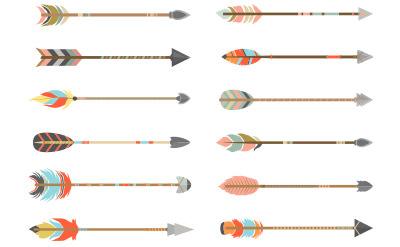 オシャレな本物の弓矢のような矢印(16)