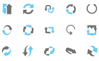 リサイクルや循環を表す矢印(45)