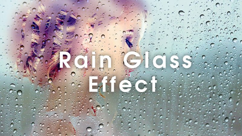 Photoshop 雨の日のガラスの表現する方法