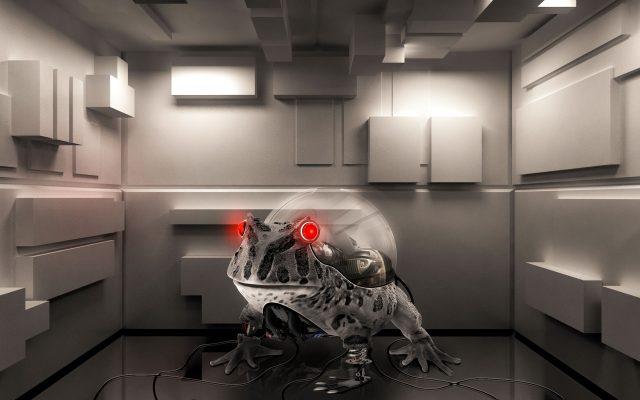 Photoshop 機械のカエル チュートリアル