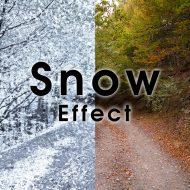 Photoshop 雪を簡単に表現できるスノーエフェクト