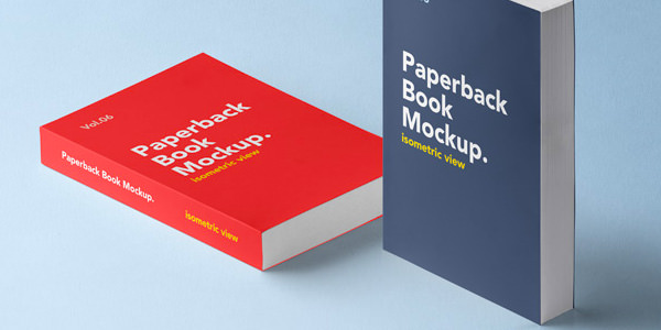 2種類のタイプのBookモックアップ