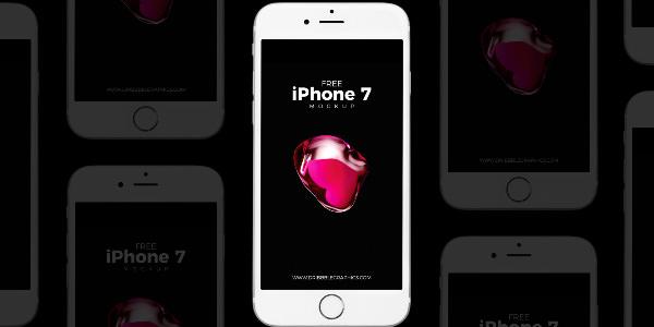 プレゼンテーション用iPhone 7のモックアップ(PSD)