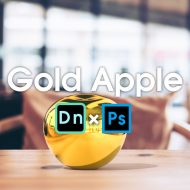 Photoshop×Dimensionでオブジェクトをゴールドにする簡単テクニック