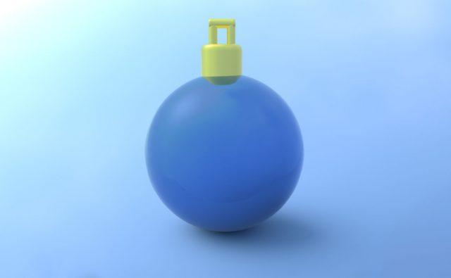 クリスマス ボール 青色