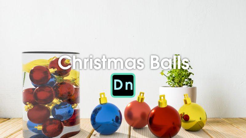 Dimensionで作るリアルなクリスマスの飾りのボール