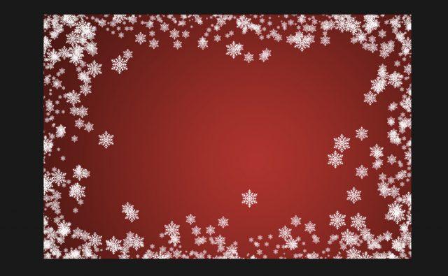 ちょっと大きめの雪の結晶をブラシで描画する