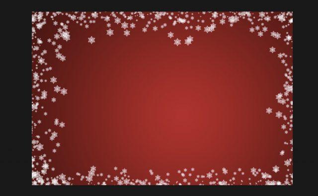 中くらいの雪の結晶をブラシで描画する