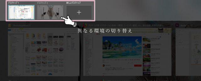 複数の異なるデスクトップ環境に切り替える