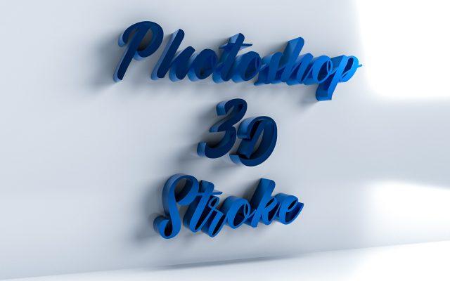 Dimension × Photoshopで作る3Dストロークテキスト