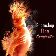 Photoshop 炎と人のコンポジット・テクニック / 簡単チュートリアル