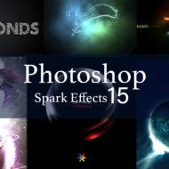 Photoshop キラキラスパーク・光の表現 チュートリアル 15選