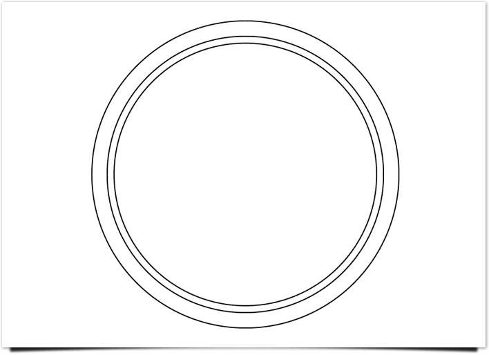 レトロ ロゴ 内側にサークルを描画
