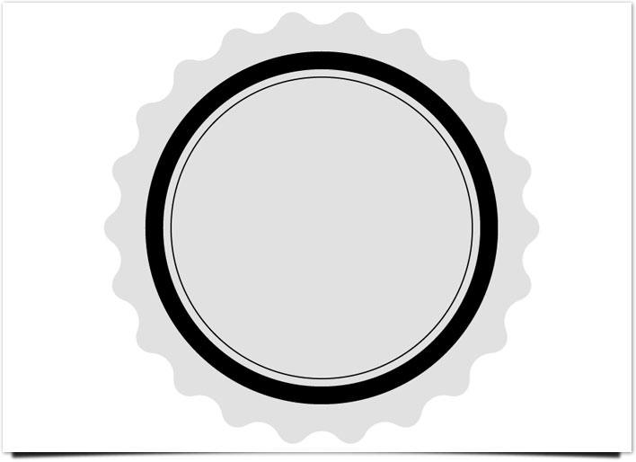 レトロ ロゴ スター型
