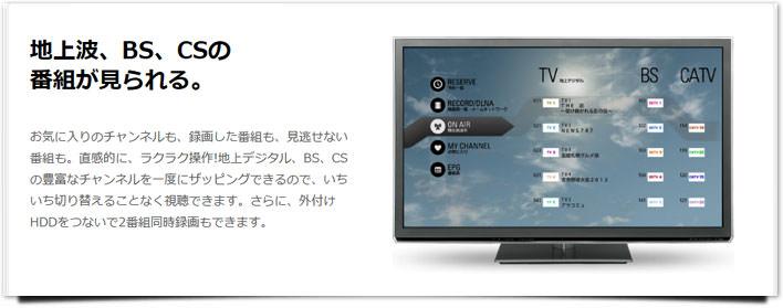 スマートテレビ BS・CS