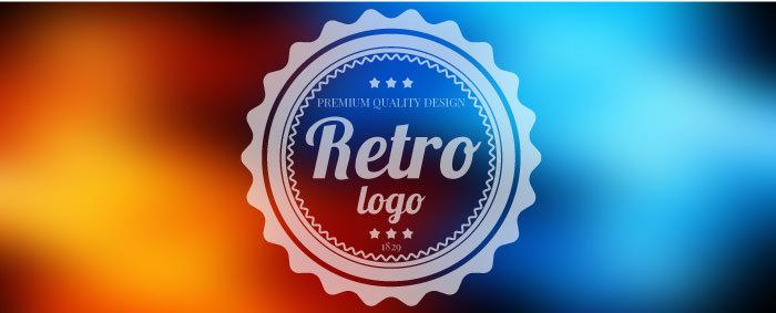 レトロ風ロゴ