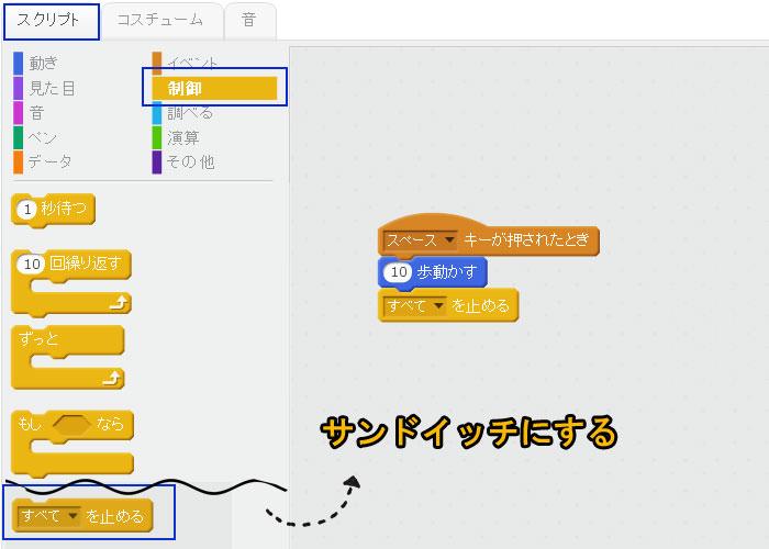 プログラミング 独学 への道! Scratch2.0 すべてを止める