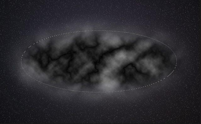 雲模様1と雲模様2の適用、その後ふたたび雲模様2を適用させる