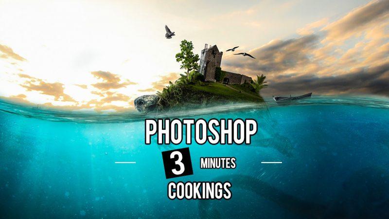 Photoshopで水中を表現する方法