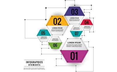 ヘックスで表現されたデザイン的なダイアグラムのグラフ