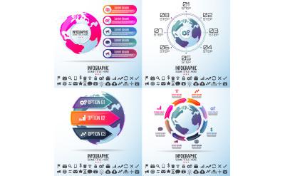 地球のデザインが印象的なグローバル感をアピールできるグラフ