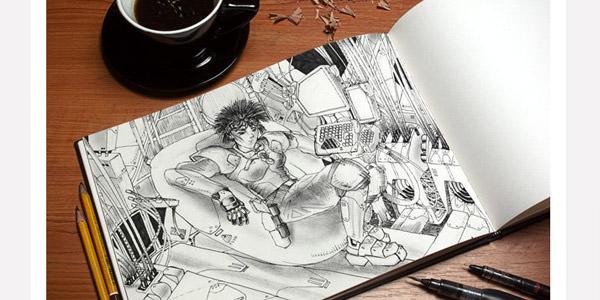 マンガやコミックなどのレビューにも使えるアートブックタイプ